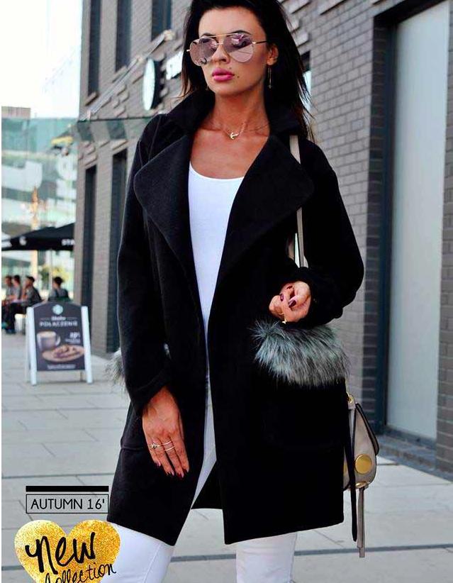 Foto: olafashion.cz, černý kabát Glamour