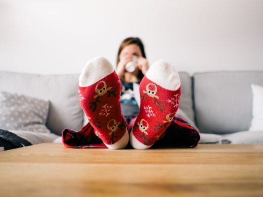 Dámské teplé ponožky