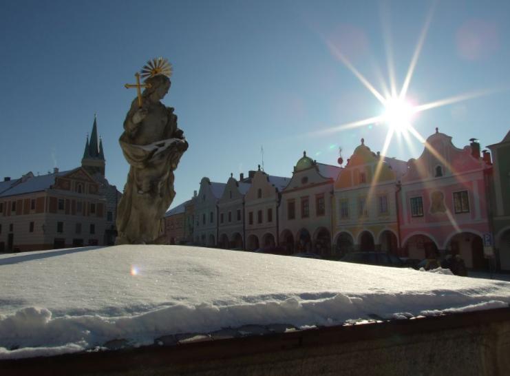 Město Telč v zimě